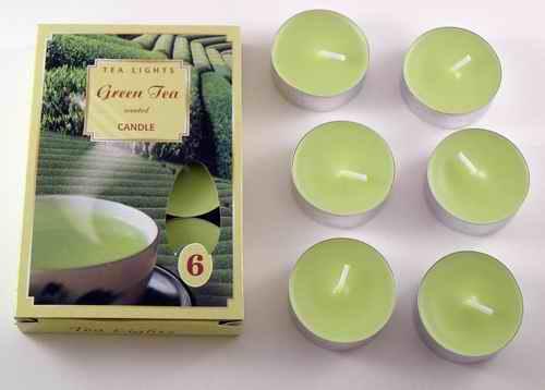 Čajové svíčky - Zelený čaj
