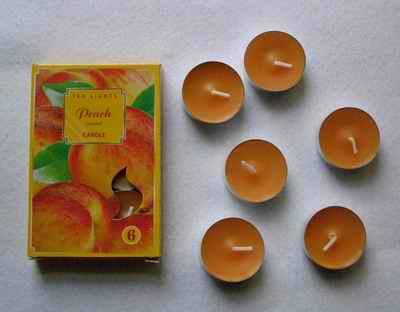 Čajové svíčky - Broskev