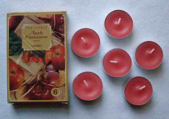 Čajové svíčky - Jablko-Skořice